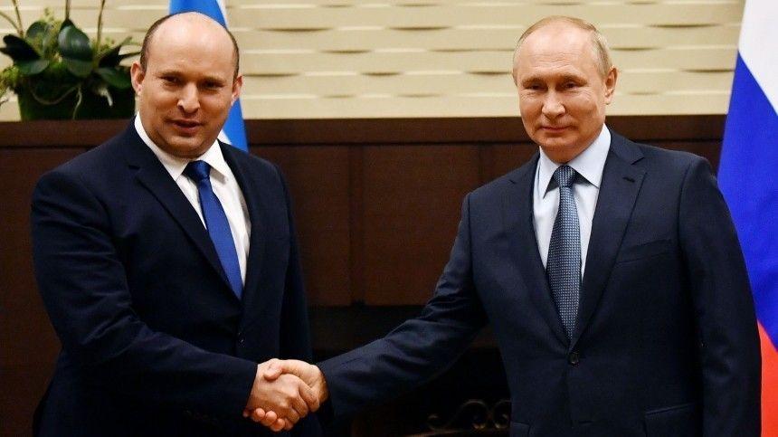 Беннет назвал Путина на встрече очень близким и настоящим другом Израиля
